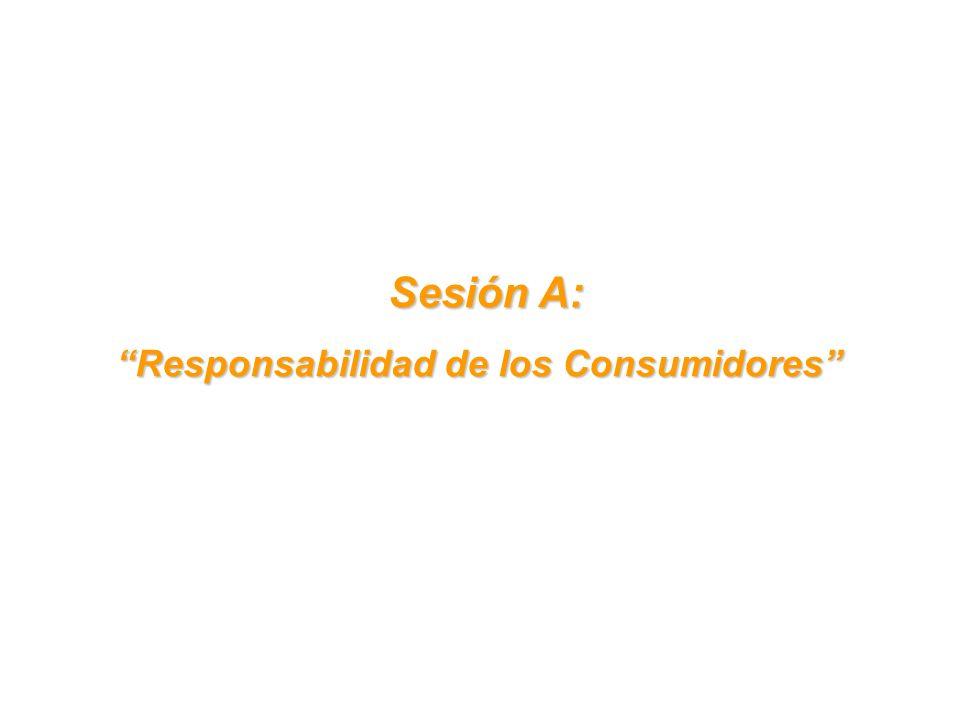 Sesión A: Sesión A: Responsabilidad de los Consumidores