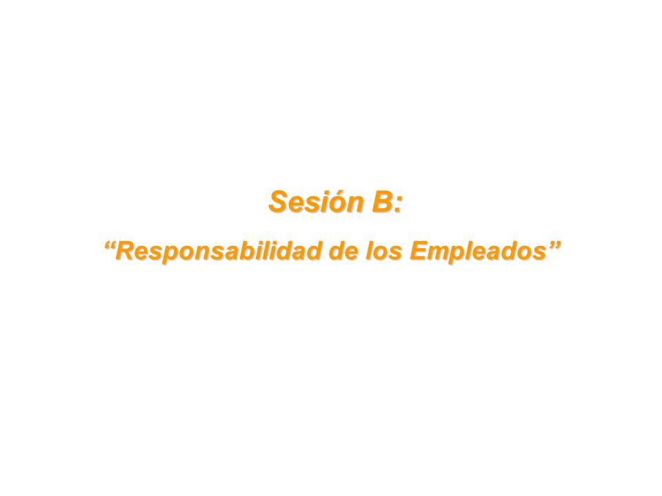 Sesión B: Sesión B: Responsabilidad de los Empleados