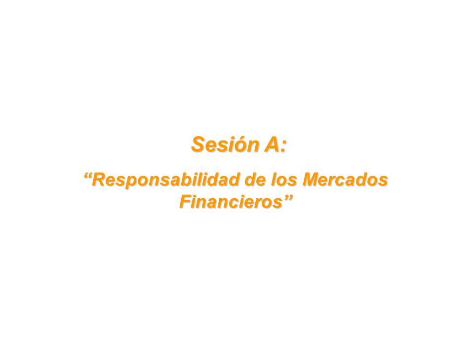 Sesión A: Sesión A: Responsabilidad de los Mercados Financieros