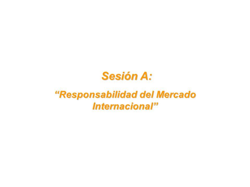 Sesión A: Sesión A: Responsabilidad del Mercado Internacional