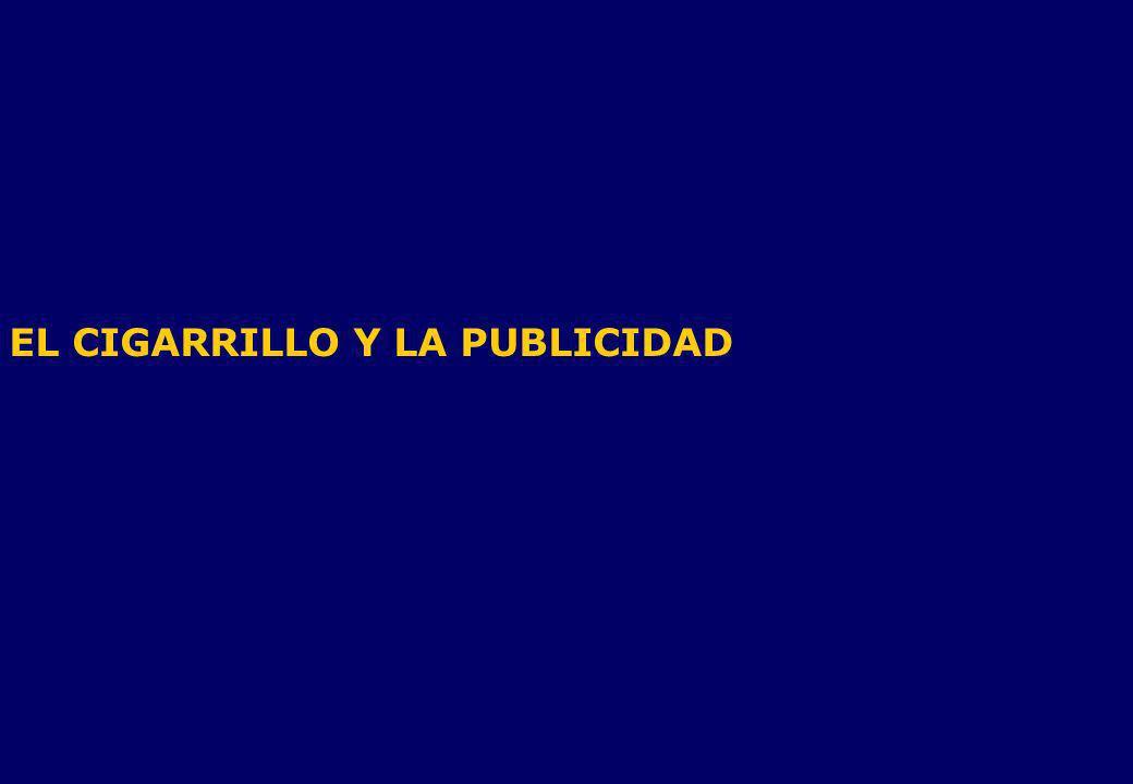 EL CIGARRILLO Y LA PUBLICIDAD