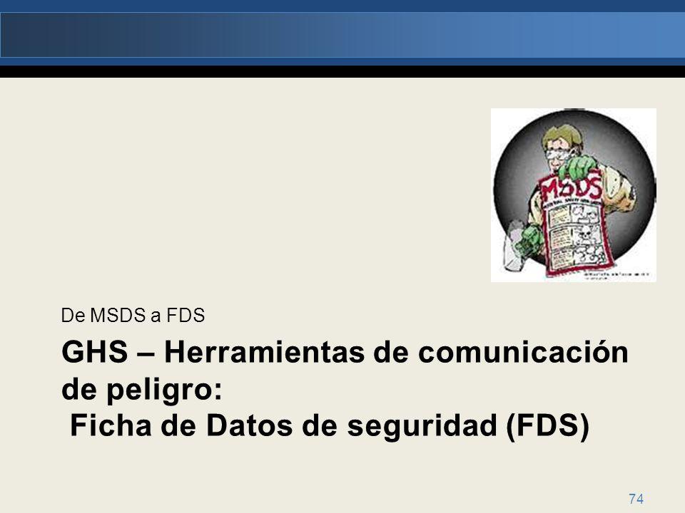 De MSDS a FDS 74