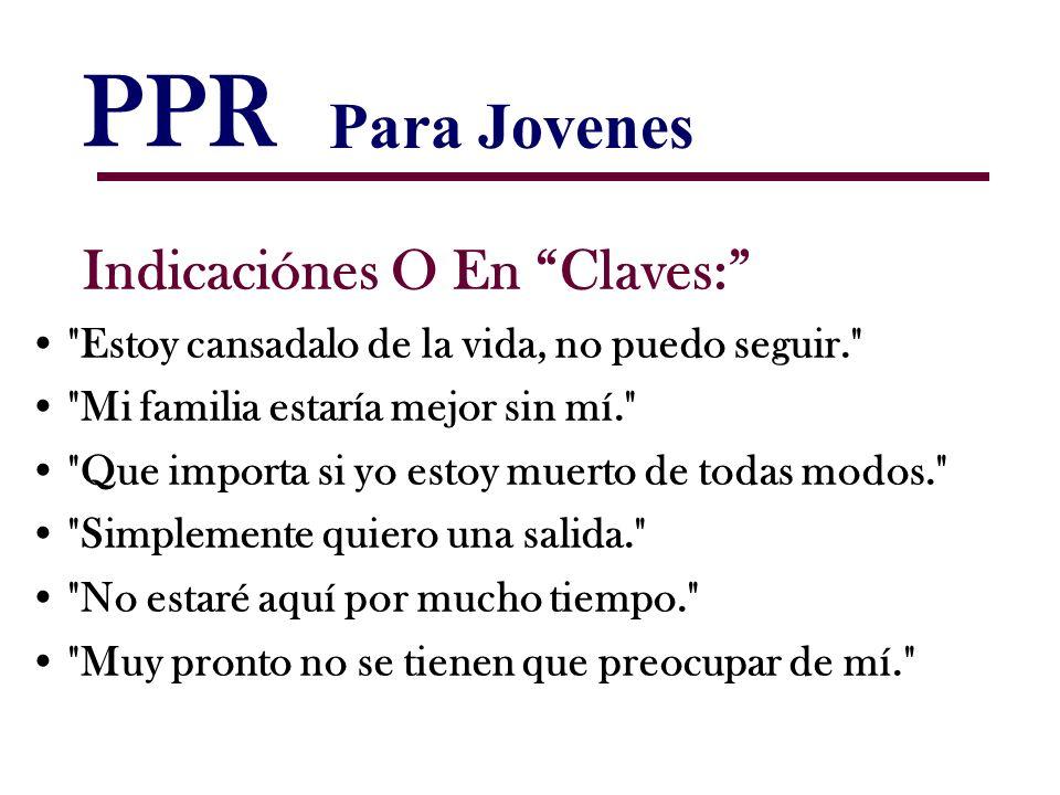 PPR Indicaciónes O En Claves:
