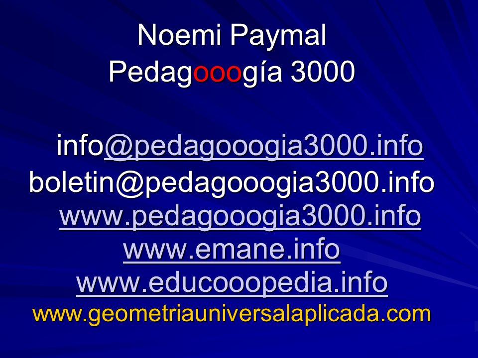 Noemi Paymal Pedagooogía 3000 info@pedagooogia3000.info info@pedagooogia3000.info@pedagooogia3000.info boletin@pedagooogia3000.info www.pedagooogia300