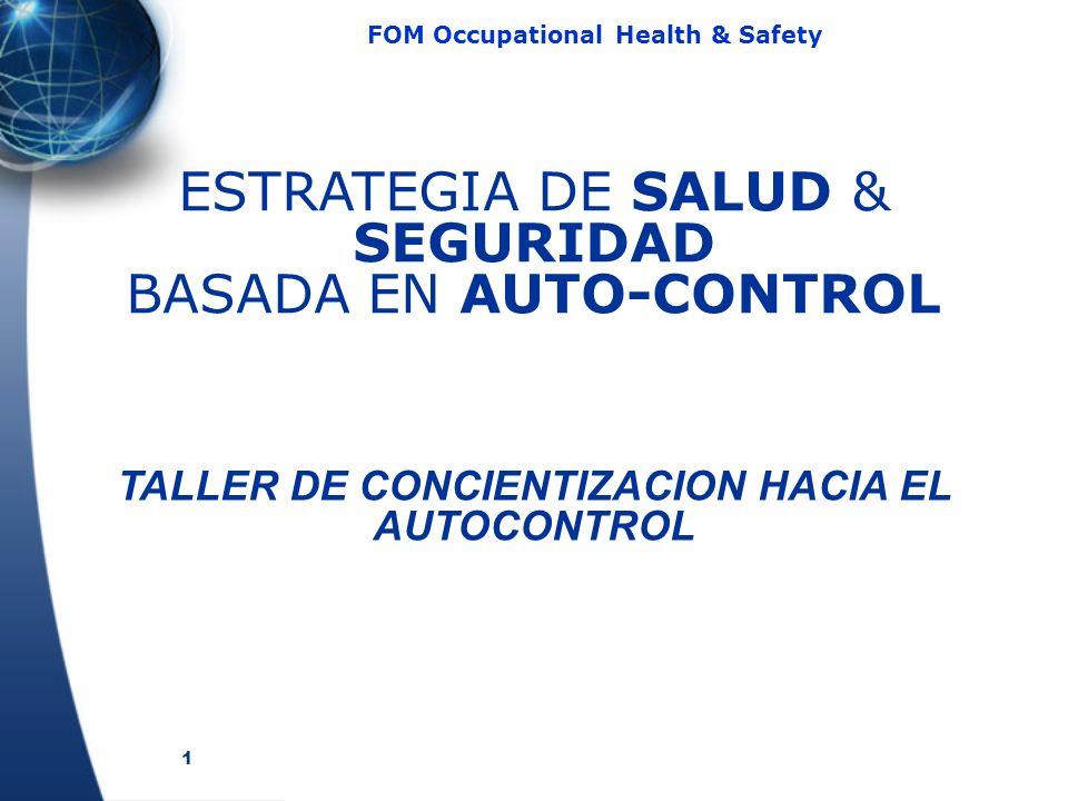 1 FOM Occupational Health & Safety ESTRATEGIA DE SALUD & SEGURIDAD BASADA EN AUTO-CONTROL TALLER DE CONCIENTIZACION HACIA EL AUTOCONTROL