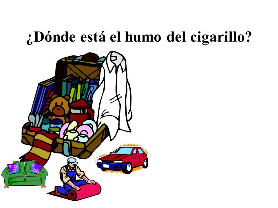 ¿Dónde está el humo del cigarillo?