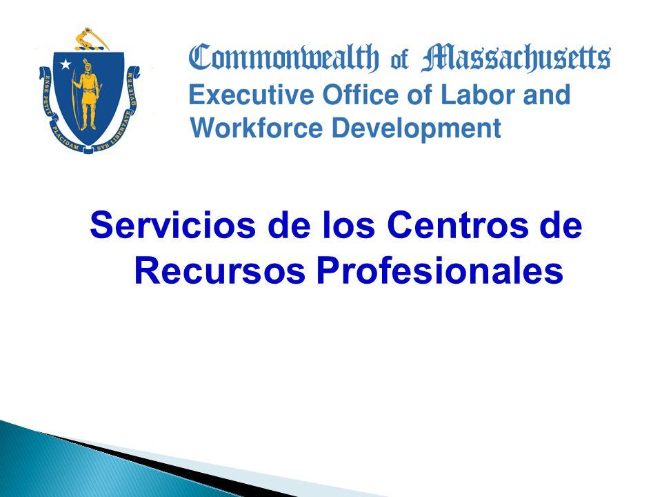 Servicios de los Centros de Recursos Profesionales