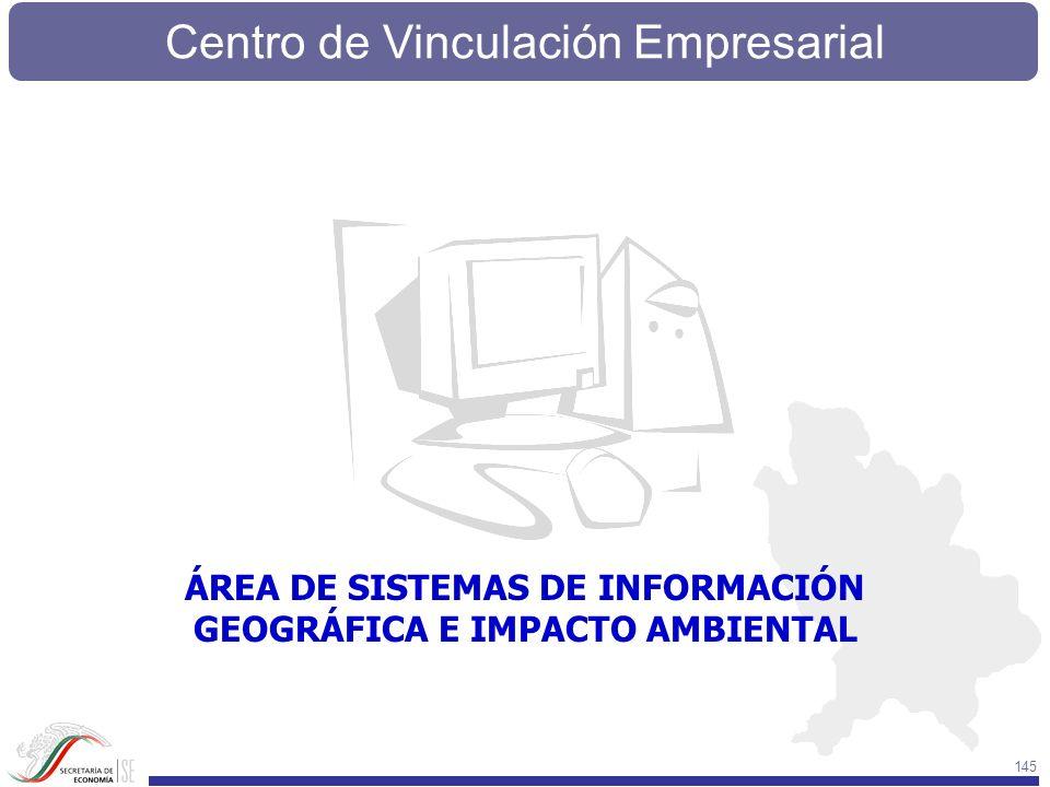 Centro de Vinculación Empresarial 145 ÁREA DE SISTEMAS DE INFORMACIÓN GEOGRÁFICA E IMPACTO AMBIENTAL