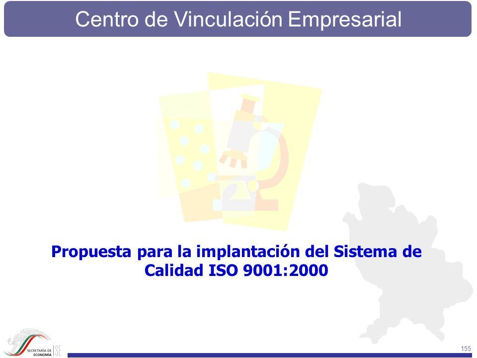 Centro de Vinculación Empresarial 155 Propuesta para la implantación del Sistema de Calidad ISO 9001:2000
