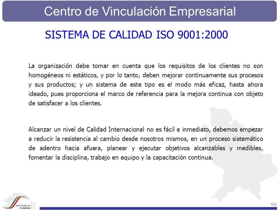 Centro de Vinculación Empresarial 159 La organización debe tomar en cuenta que los requisitos de los clientes no son homogéneos ni estáticos, y por lo