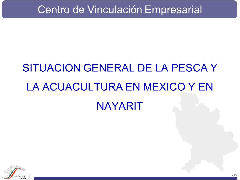 Centro de Vinculación Empresarial 215 SITUACION GENERAL DE LA PESCA Y LA ACUACULTURA EN MEXICO Y EN NAYARIT