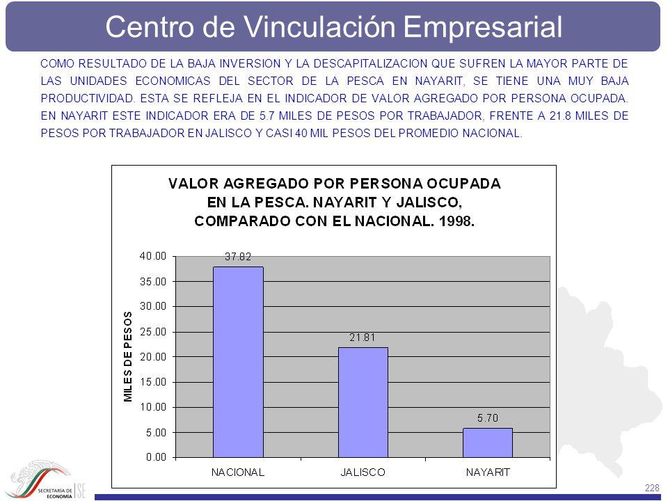 Centro de Vinculación Empresarial 228 COMO RESULTADO DE LA BAJA INVERSION Y LA DESCAPITALIZACION QUE SUFREN LA MAYOR PARTE DE LAS UNIDADES ECONOMICAS