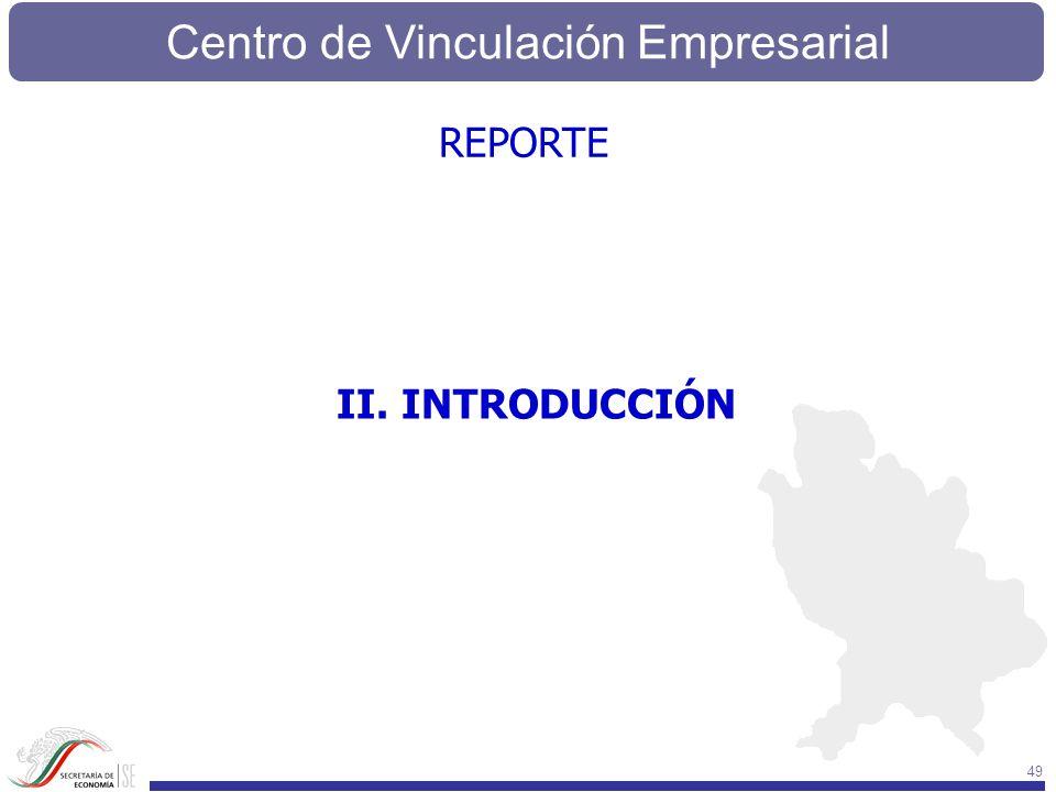 Centro de Vinculación Empresarial 49 II. INTRODUCCIÓN REPORTE