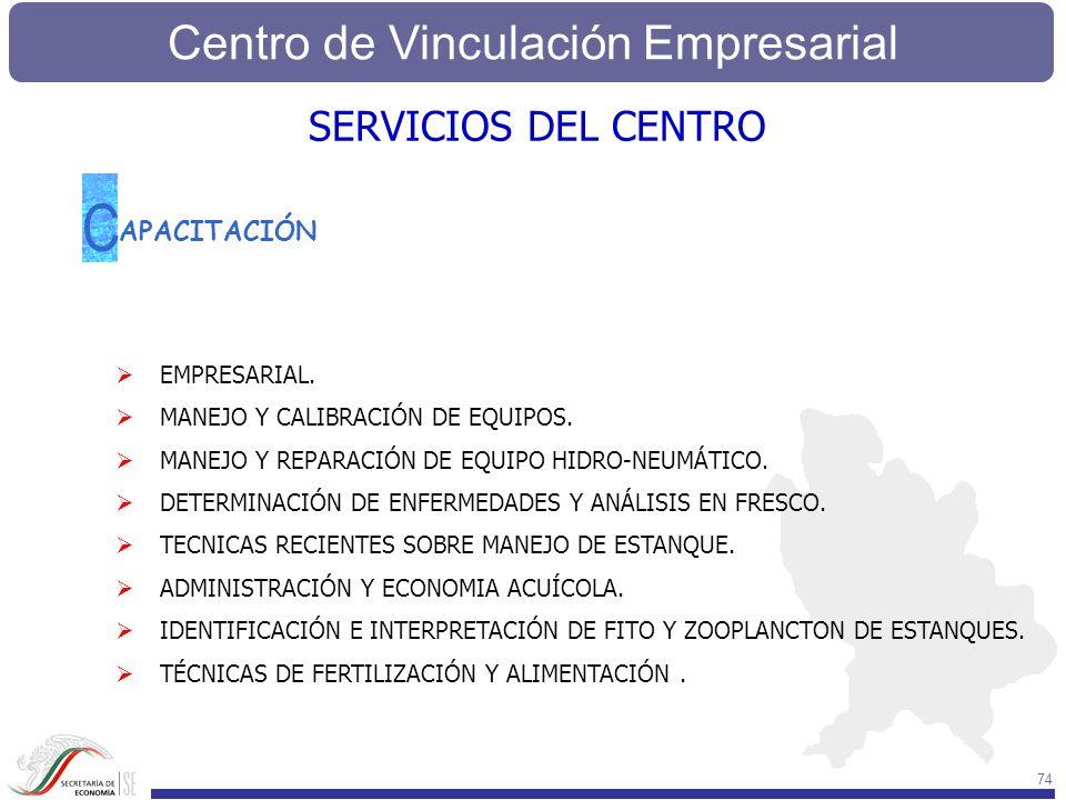 Centro de Vinculación Empresarial 74 APACITACIÓN C EMPRESARIAL. MANEJO Y CALIBRACIÓN DE EQUIPOS. MANEJO Y REPARACIÓN DE EQUIPO HIDRO-NEUMÁTICO. DETERM