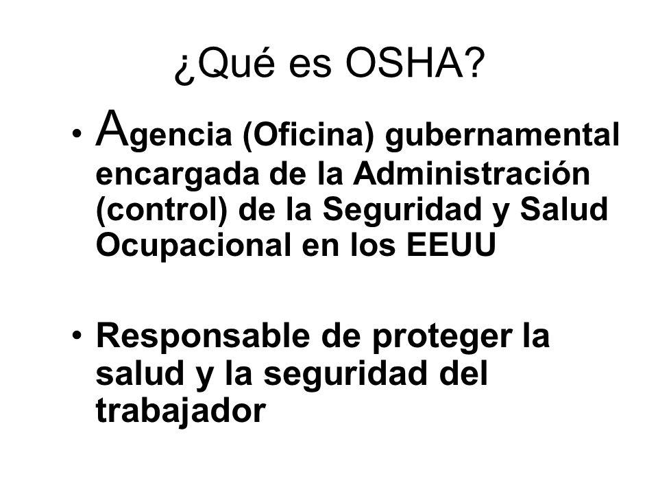 ¿Qué es OSHA.