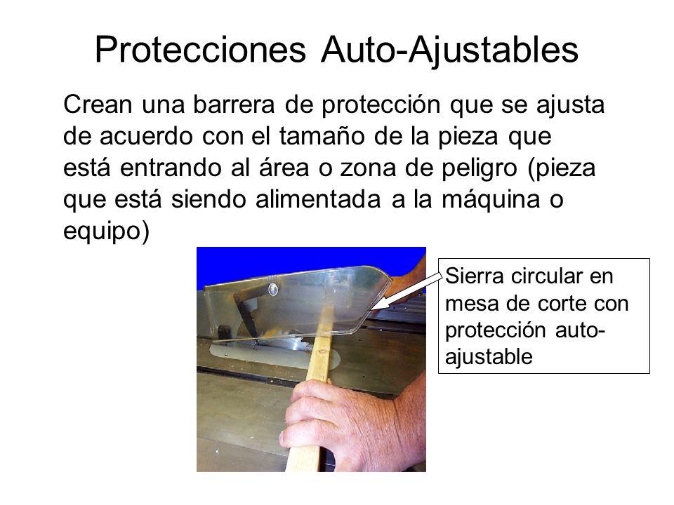Protección Ajustable Crea una barrera de protección la cual puede ser ajustada para facilitar una variedad de operaciones durante el proceso de producción Hojilla / sierra tipo cinta con protección ajustable