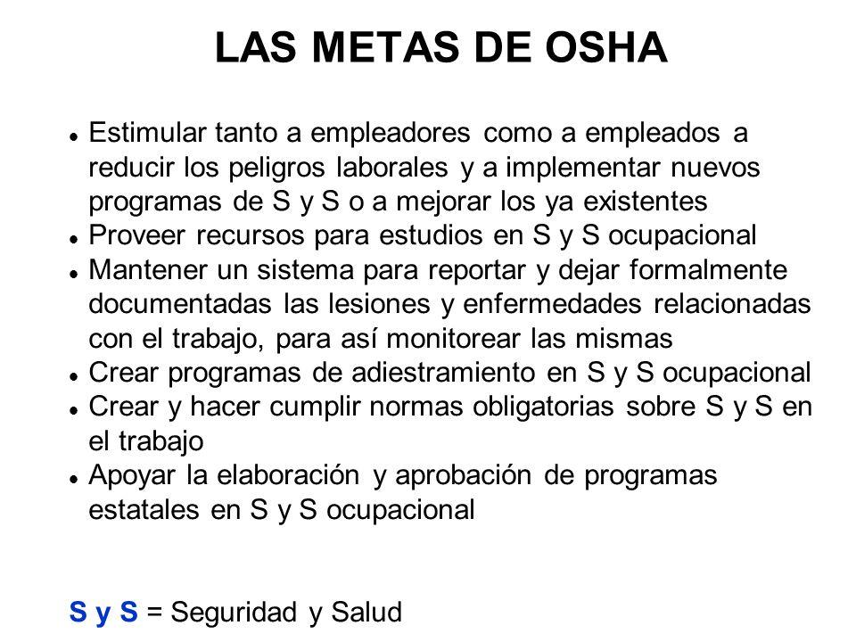 Ley de SSO de 1970 PROPÓSITO / INTENCIÓN: ...