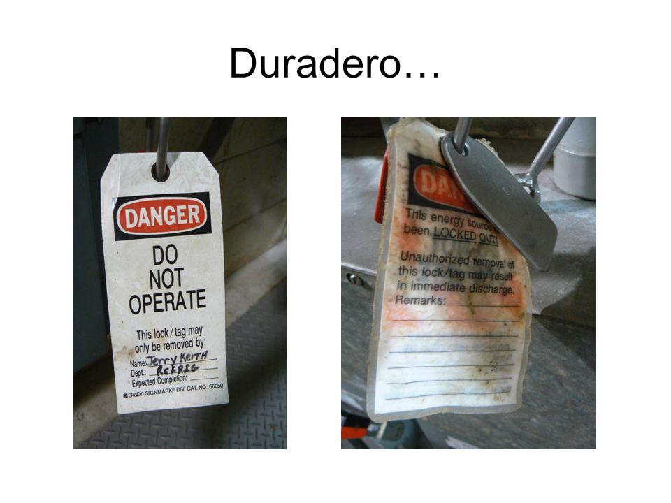 Características del Equipo Requerido Duradero Estandarizado (aprobado y de calidad) De material sólido / fuerte y resistente Identificador del usuario