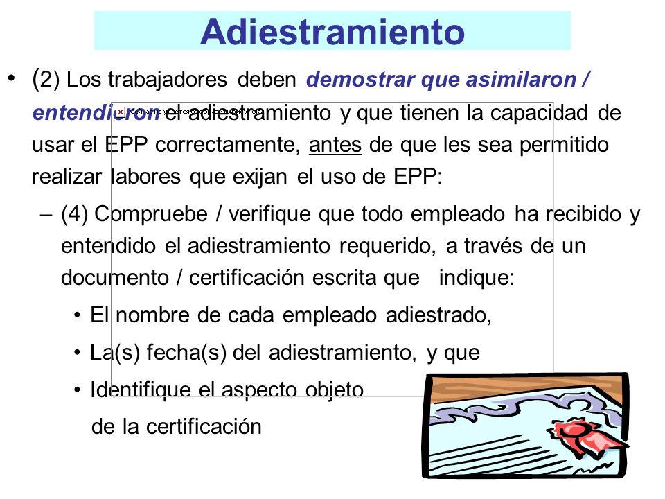 Certificación del Equipo de Protección Personal de Acuerdo con la Evaluación del Riesgo ________________________________________________ Nombre de la Empresa:_______________________________ Departamentos Evaluados:____________________________ Nombre y Cargo:____________________________________ Fecha:________________________ ACTIVIDAD / TRABAJO RIESGOS / PELIGROS EPP REQUERIDO