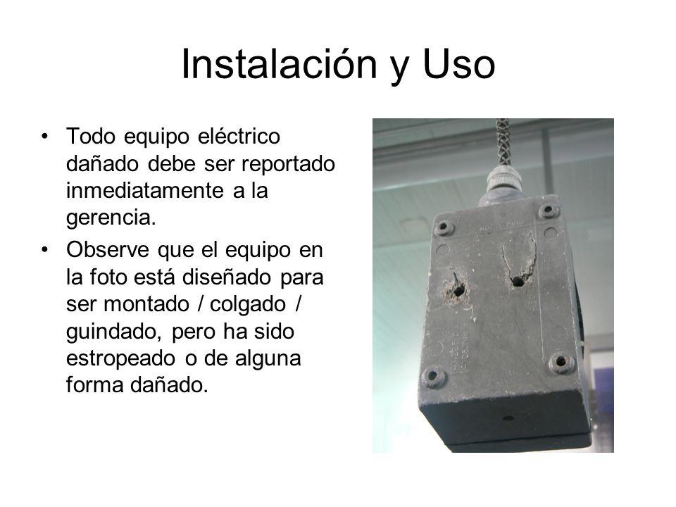Aprobación Ejemplo: Cable con enchufe tipo tapa con lámina de cobertura no aprobada Ejemplo: Cable de extensión- ¿incluido o aprobado?