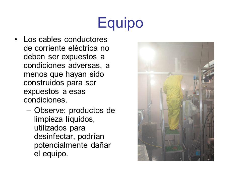 Instalación y Uso Todo equipo eléctrico dañado debe ser reportado inmediatamente a la gerencia.