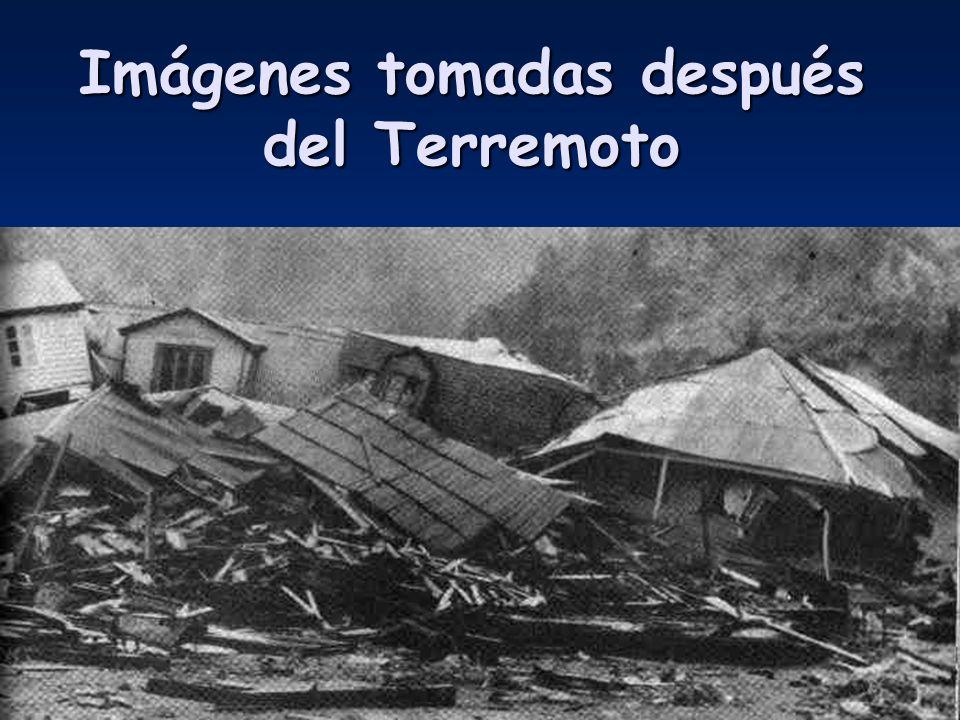 Imágenes tomadas después del Terremoto