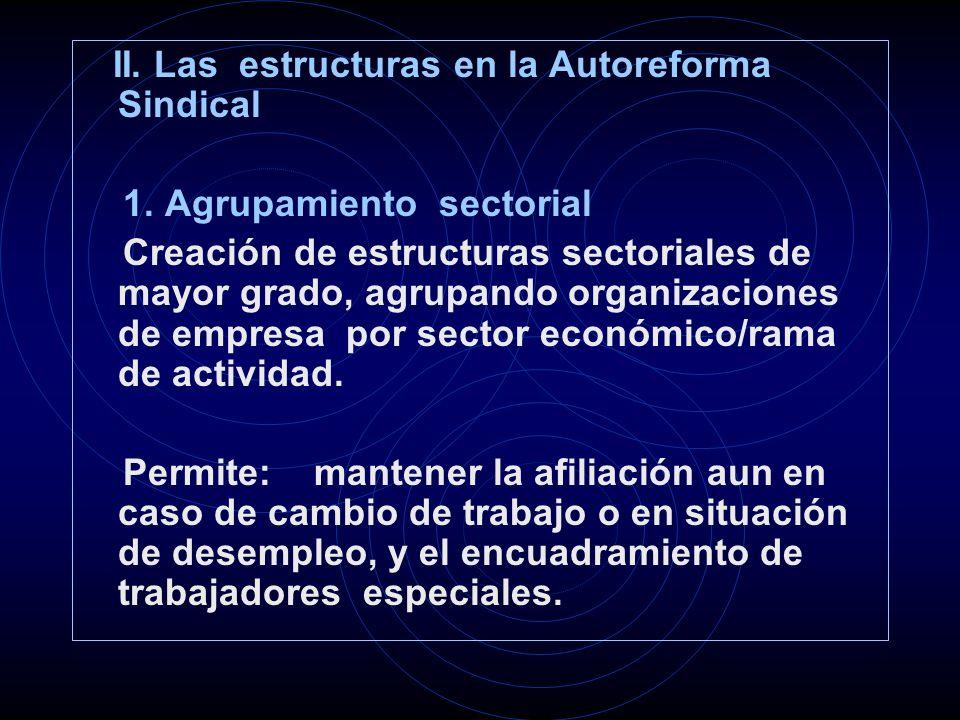 II.Las estructuras en la Autoreforma Sindical 1.
