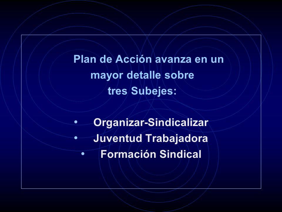 Proceso dialéctico: - Combatir al trabajo precarizado e informalizado (plano sociopolitico) - Al mismo tiempo, organizarlo (plano interno)