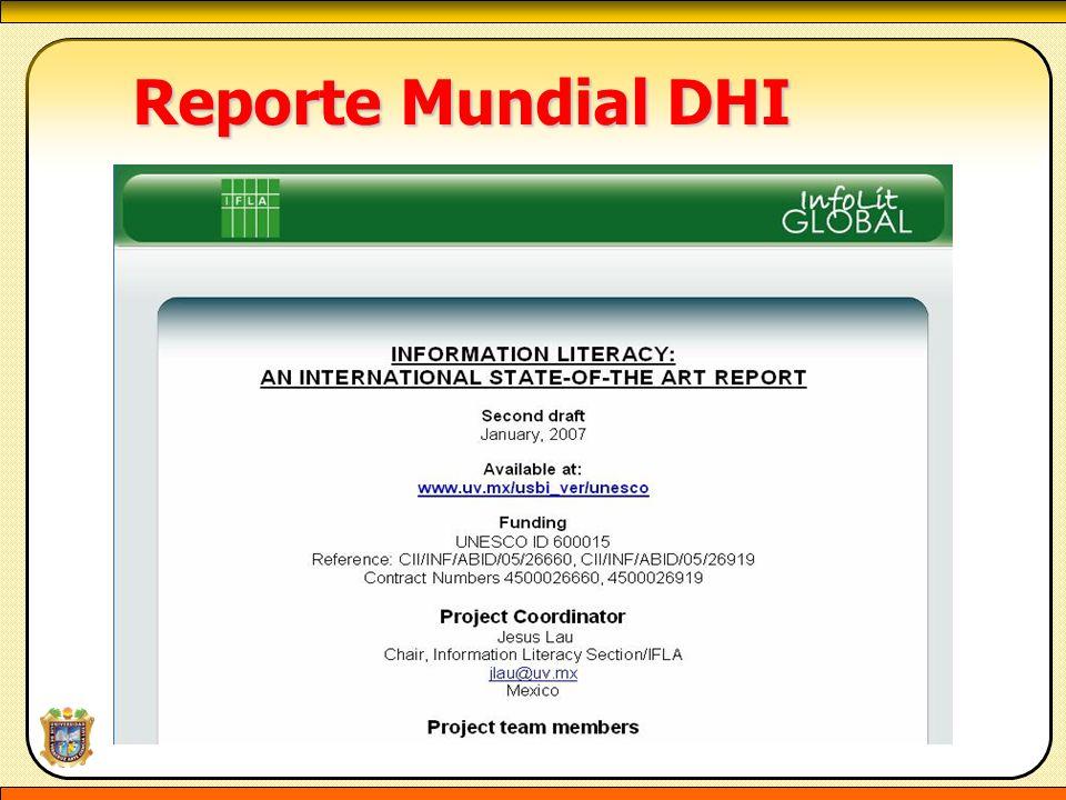 Reporte Mundial DHI