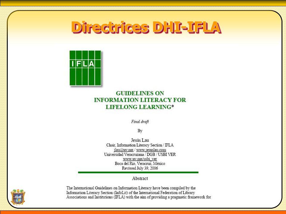 Directrices DHI-IFLA Directrices DHI-IFLA
