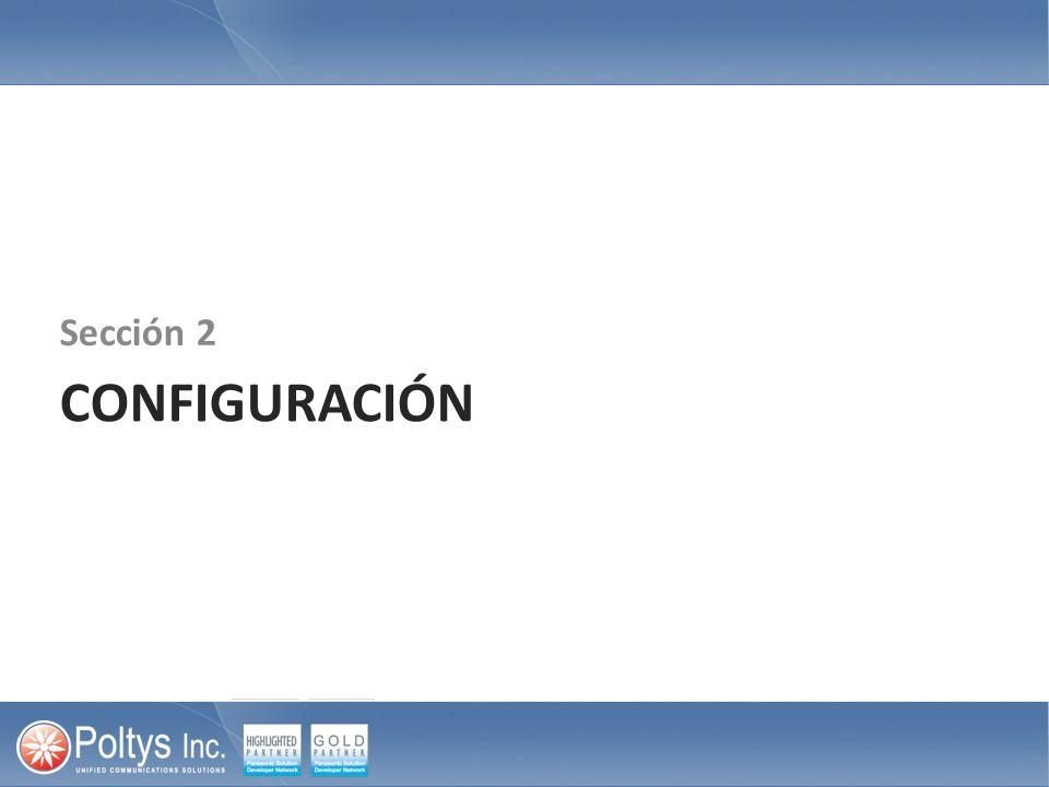 CONFIGURACIÓN Sección 2