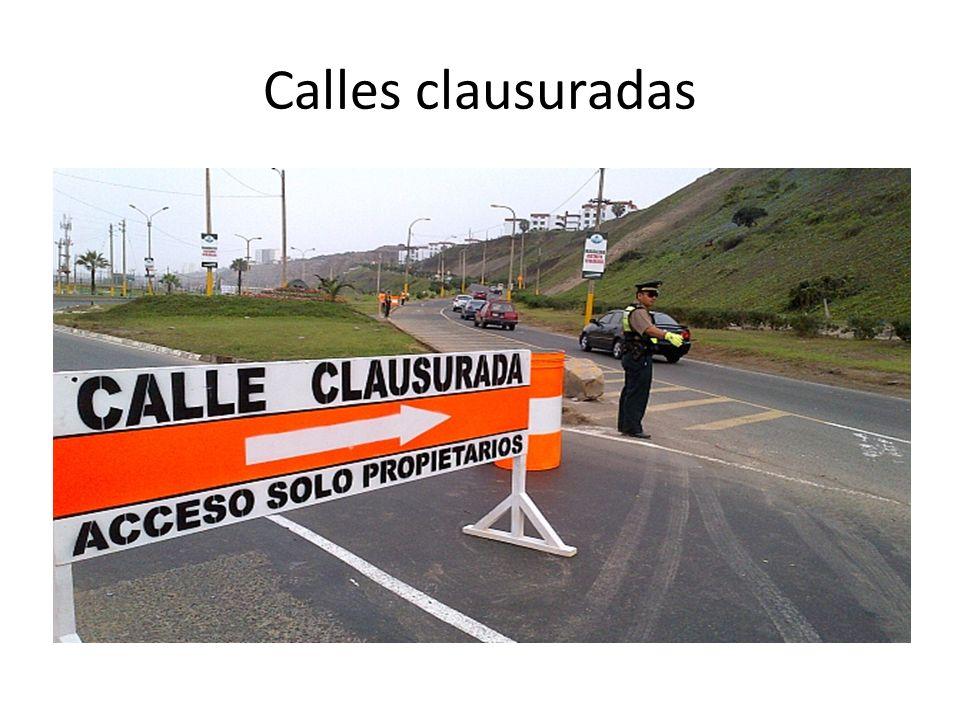 Calles clausuradas