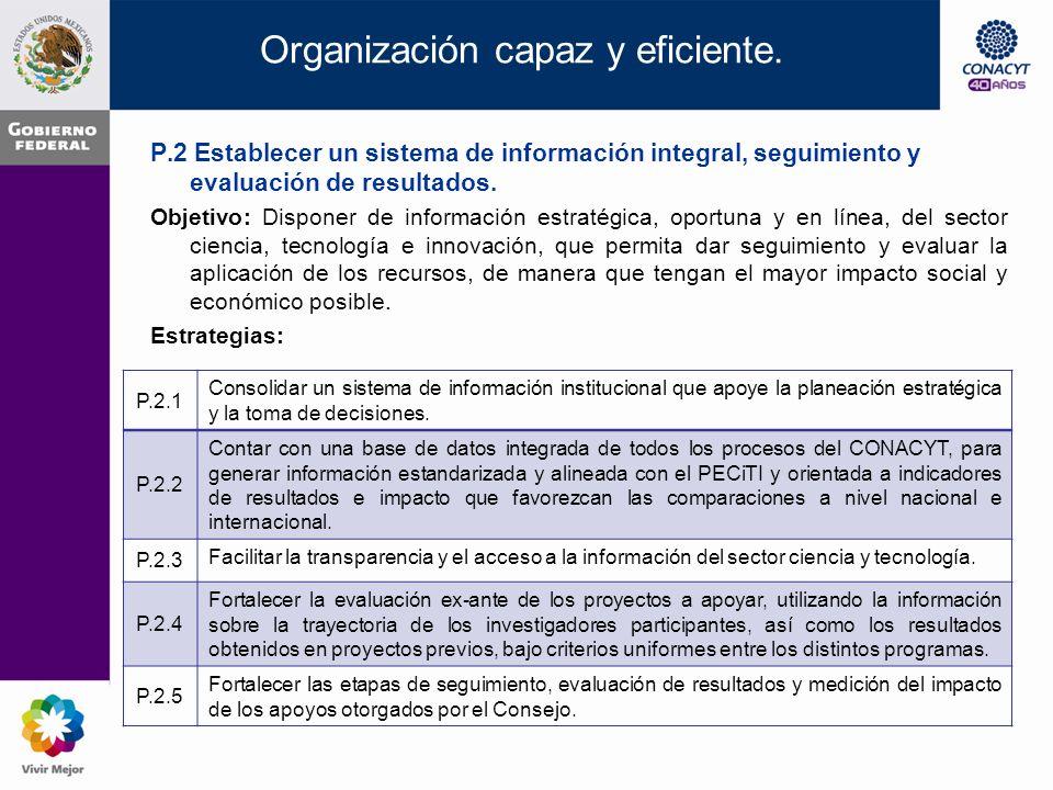 Organización capaz y eficiente.