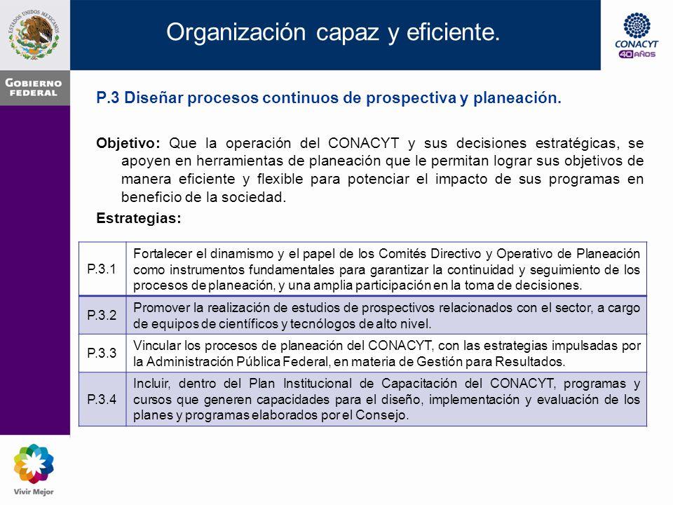 P.2 Establecer un sistema de información integral, seguimiento y evaluación de resultados.