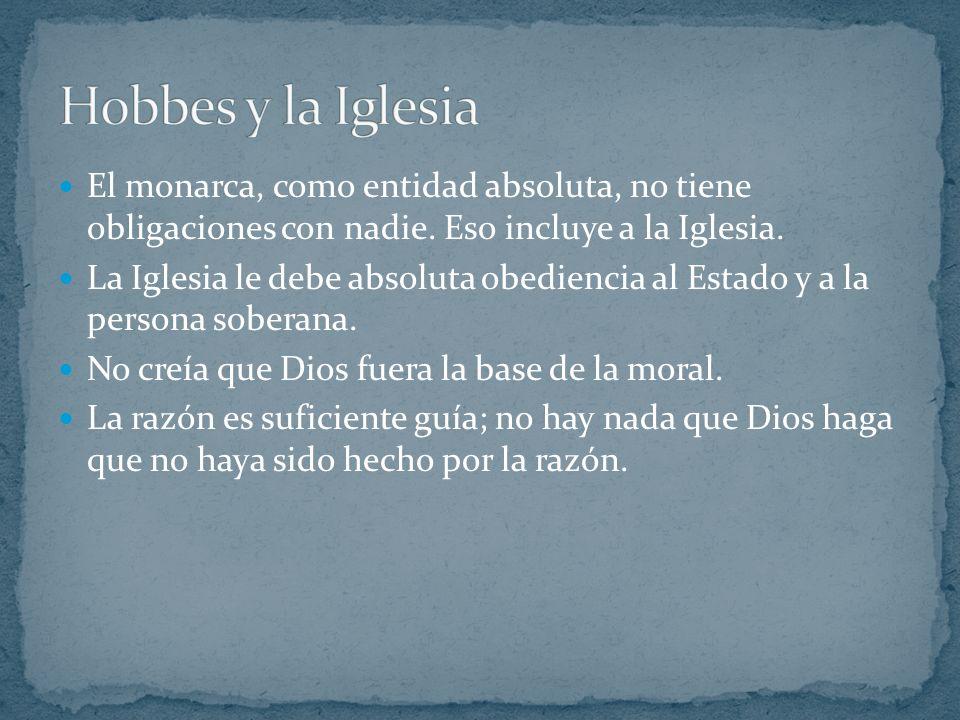 Hobbes intentó justificar su obra mediante el empirismo. Enfatizó la importancia del lenguaje para el conocimiento. Ofreció una visión que relacionaba