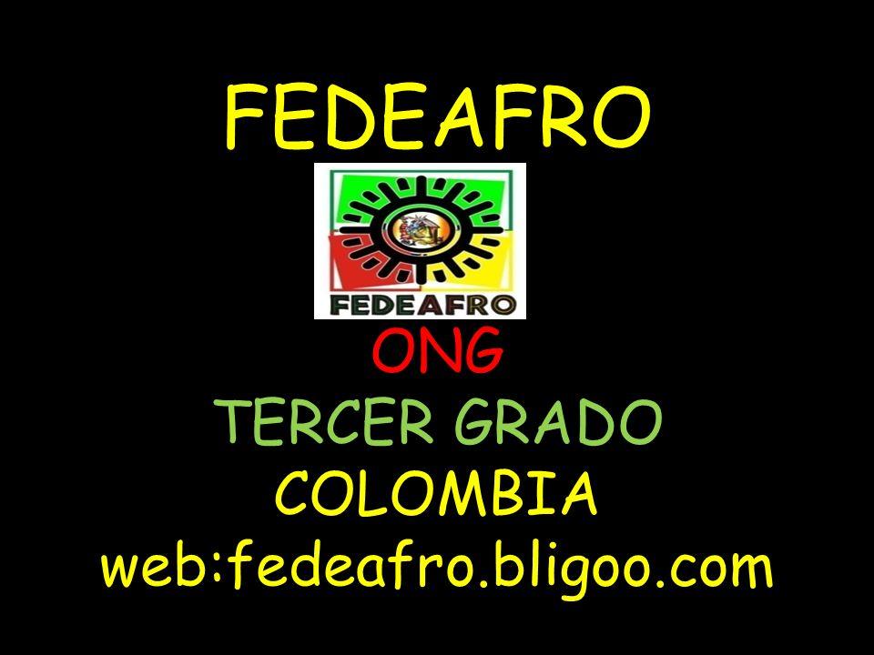 FEDEAFRO ONG TERCER GRADO COLOMBIA web:fedeafro.bligoo.com