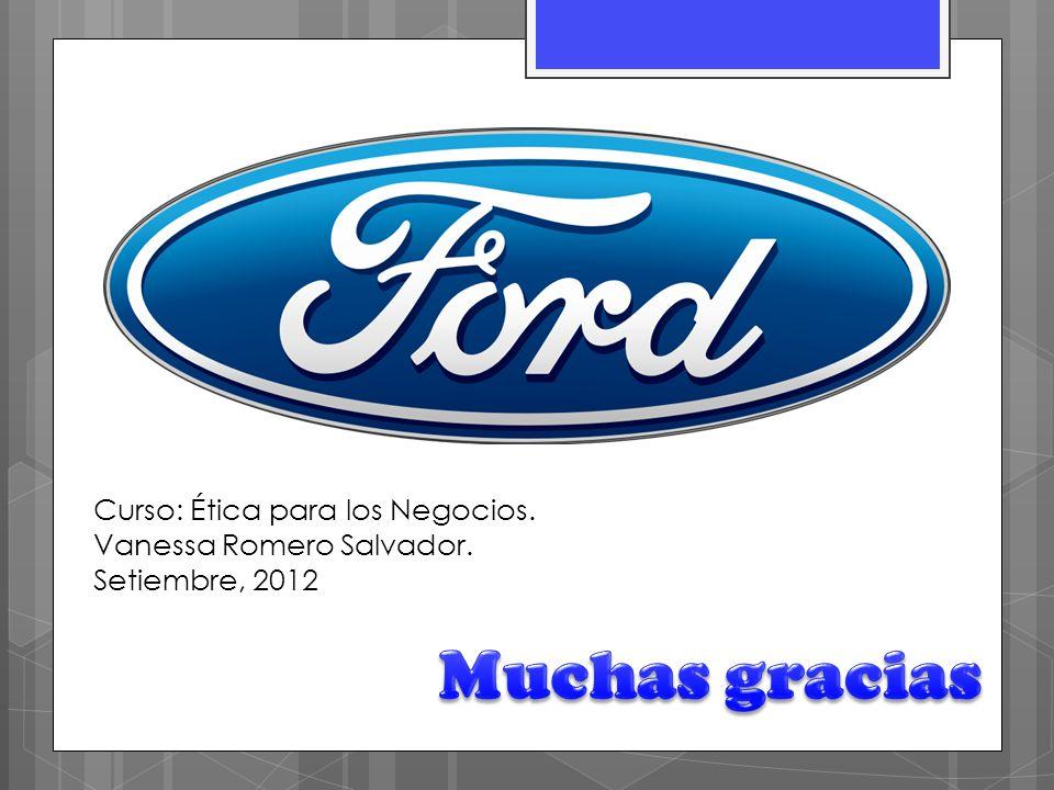 Curso: Ética para los Negocios. Vanessa Romero Salvador. Setiembre, 2012