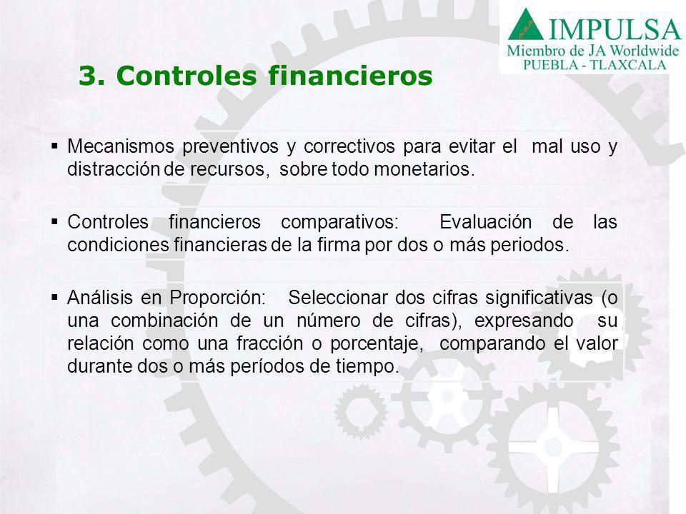 Mecanismos preventivos y correctivos para evitar el mal uso y distracción de recursos, sobre todo monetarios.
