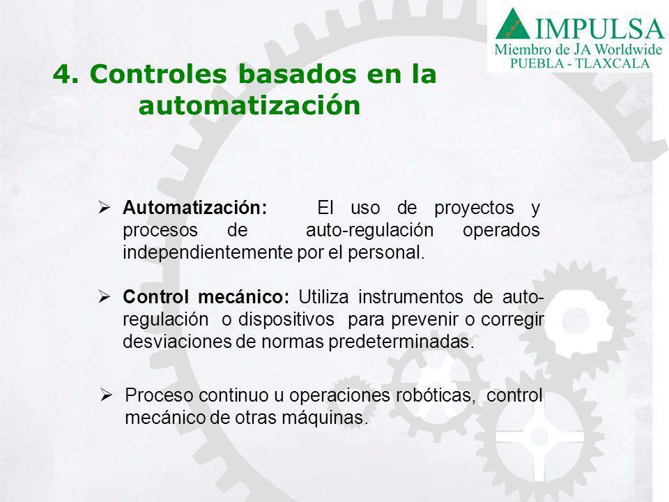 Automatización: El uso de proyectos y procesos de auto-regulación operados independientemente por el personal.