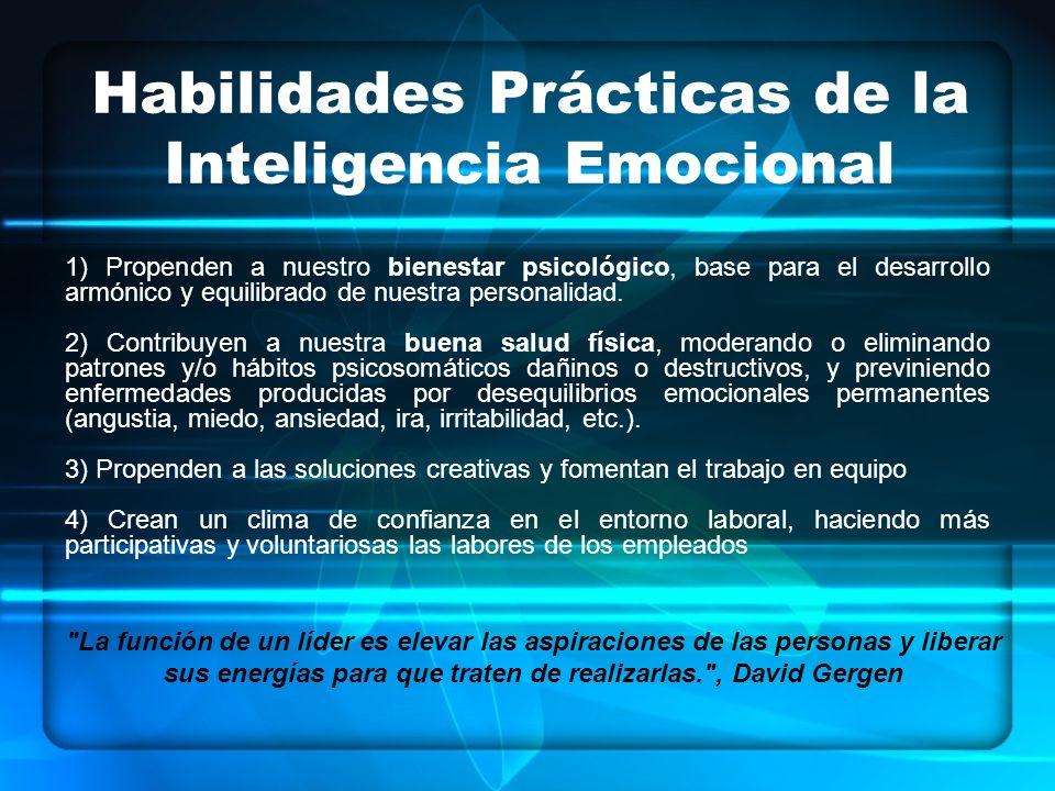 1) Propenden a nuestro bienestar psicológico, base para el desarrollo armónico y equilibrado de nuestra personalidad.