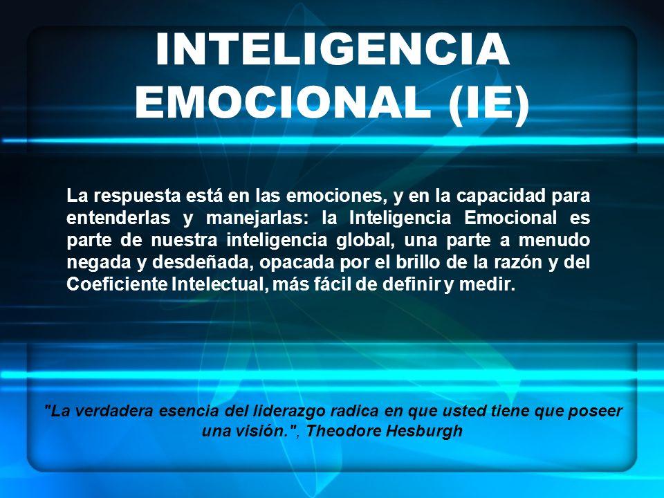 La respuesta está en las emociones, y en la capacidad para entenderlas y manejarlas: la Inteligencia Emocional es parte de nuestra inteligencia global, una parte a menudo negada y desdeñada, opacada por el brillo de la razón y del Coeficiente Intelectual, más fácil de definir y medir.