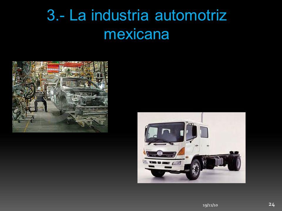 3.- La industria automotriz mexicana 19/11/10 24