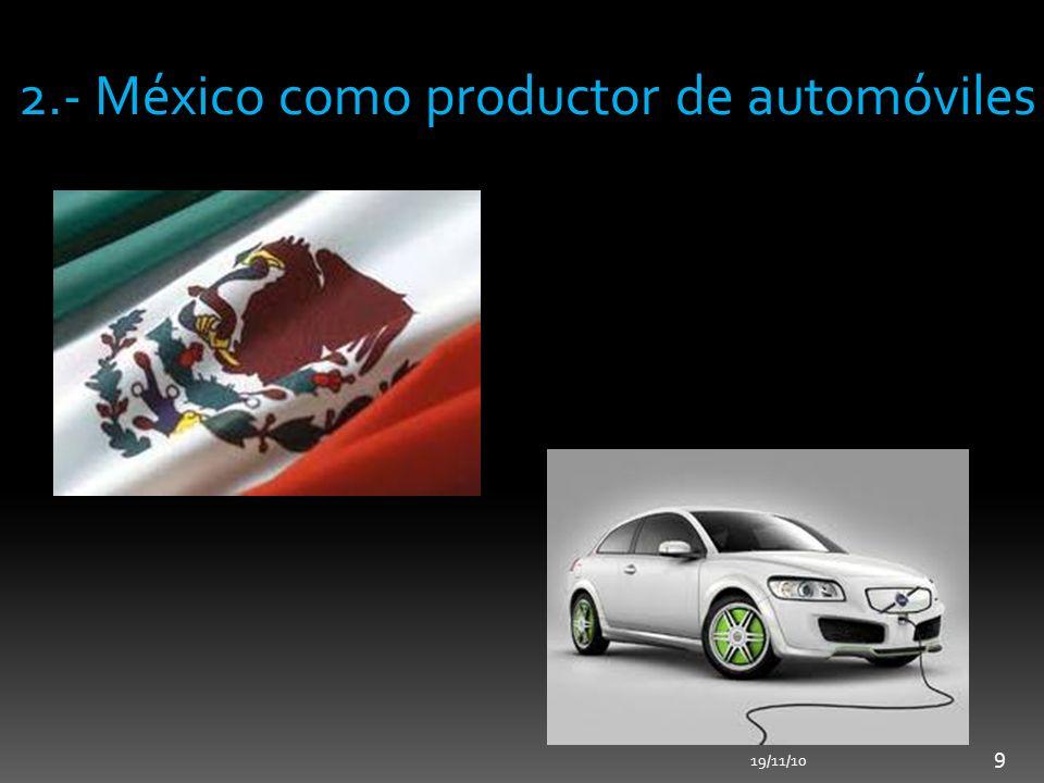 2.- México como productor de automóviles 19/11/10 9