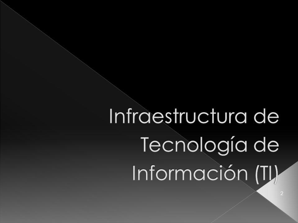 Recursos de tecnología compartidos que proporcionan la plataforma para las aplicaciones de sistemas de información especificas de la empresa.