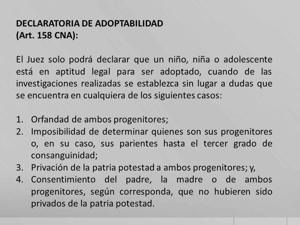 DECLARATORIA DE ADOPTABILIDAD (Art.