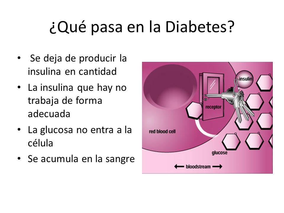 ¿Qué pasa en la Diabetes.