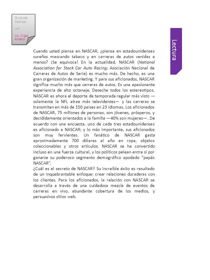 Lectura Guia de trabajo MKT Lic.Olga Arrieta Guia de trabajo MKT Lic.