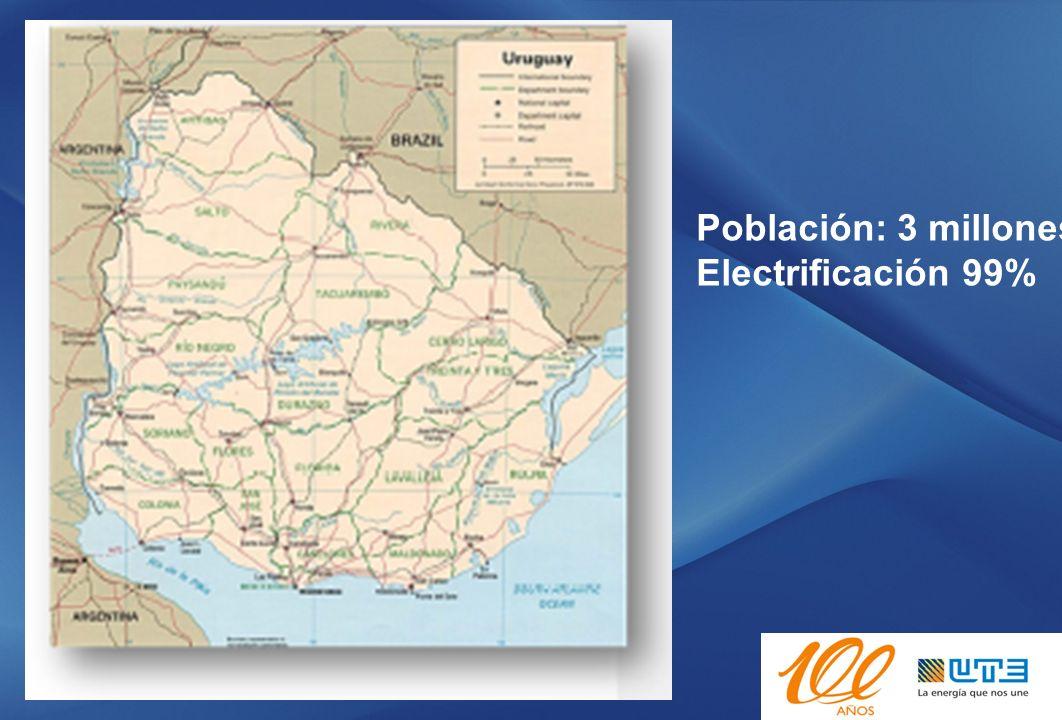 Transmisión y sub transmisión: 8.500 km Media Tension: 42.000 km Baja Tensión: 25.000 km