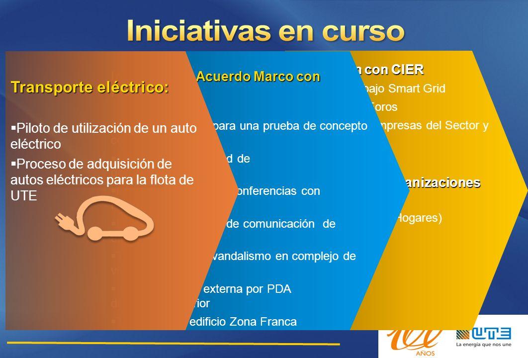 Interacción con CIER Grupo de trabajo Smart Grid Seminarios y Foros Contacto con Empresas del Sector y Reguladores Sinergias con Organizaciones del Es