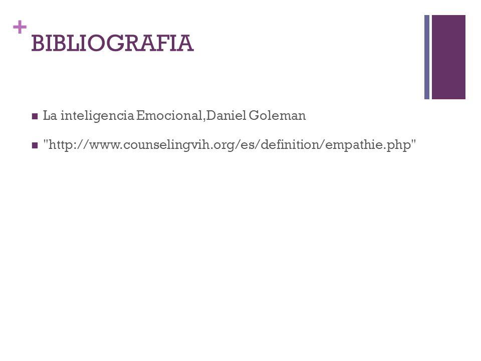 + BIBLIOGRAFIA La inteligencia Emocional,Daniel Goleman